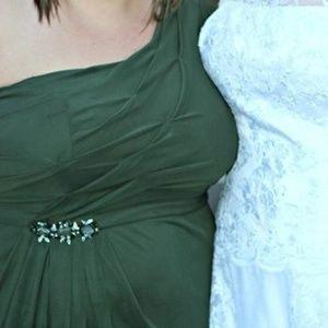 Ladies 22 W Matron Bridal Dress Hunter Green